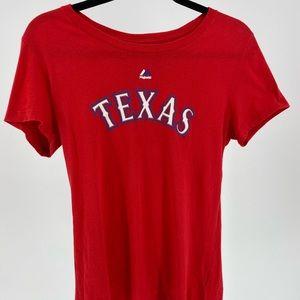 Girls Large Texas Rangers Beltre #29 Red T-Shirt